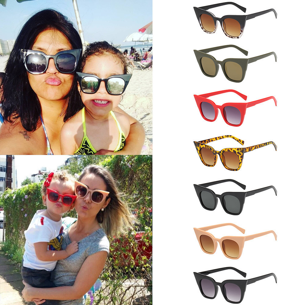 Official Website 2018 Children Kids Cute Cat Eye Rapper Sunglasses Vintage Retro Casual Travel Eyewear Unisex Glasses Gifts F80