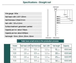 Image 5 - FUJIWARA Electric Pneumatic Nail Gun Straight Nail, U nail, F15/F20/ F25/ F30(15 30MM)  422J U (4mm width,22mm length)