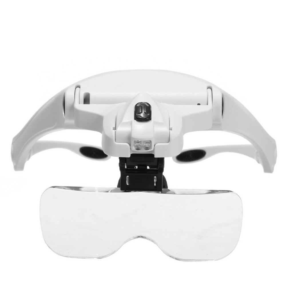 1 Set 5 Lens Adjustable Headband Magnifier LED Light Lamp Magnifying Glasses For Permanent Makeup Tattoo Supplies