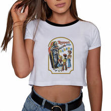 Pulp Fiction Tumblr Clothing Grunge Aesthetic White Vintage Ulzzang Harajuku Sexy Crop Top Cute Women T Shirt 2019 Pusheen(China)