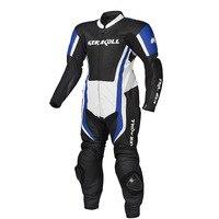 Яловая Кожа цельный мотоциклетный гоночный костюм Духан Кроссовое пальто KERAKOLL 2018 новая соединенная кожаная одежда мото протектор