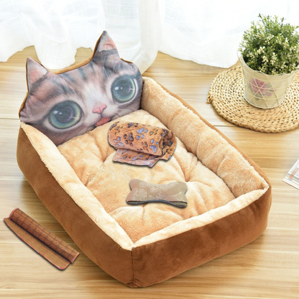 Lovely Dog Bed Pad Animal Cartoon Shaped Kennels Lounger Sofa Soft Pet House Dog Bed Mat Big Basket Dog Mattress Pet Supplies in Houses Kennels Pens from Home Garden