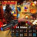 14 слайдов  Рождественский проектор  Лазерное освещение  вспышка  лампа для вечеринки по случаю Дня Рождения  праздник  Рождество  Новый Год  ...