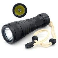 New XM L2 LED Light 1000LM Aluminum Alloy Waterproof LED Diving Flashlight Underwater Lamp Torch Flash Light