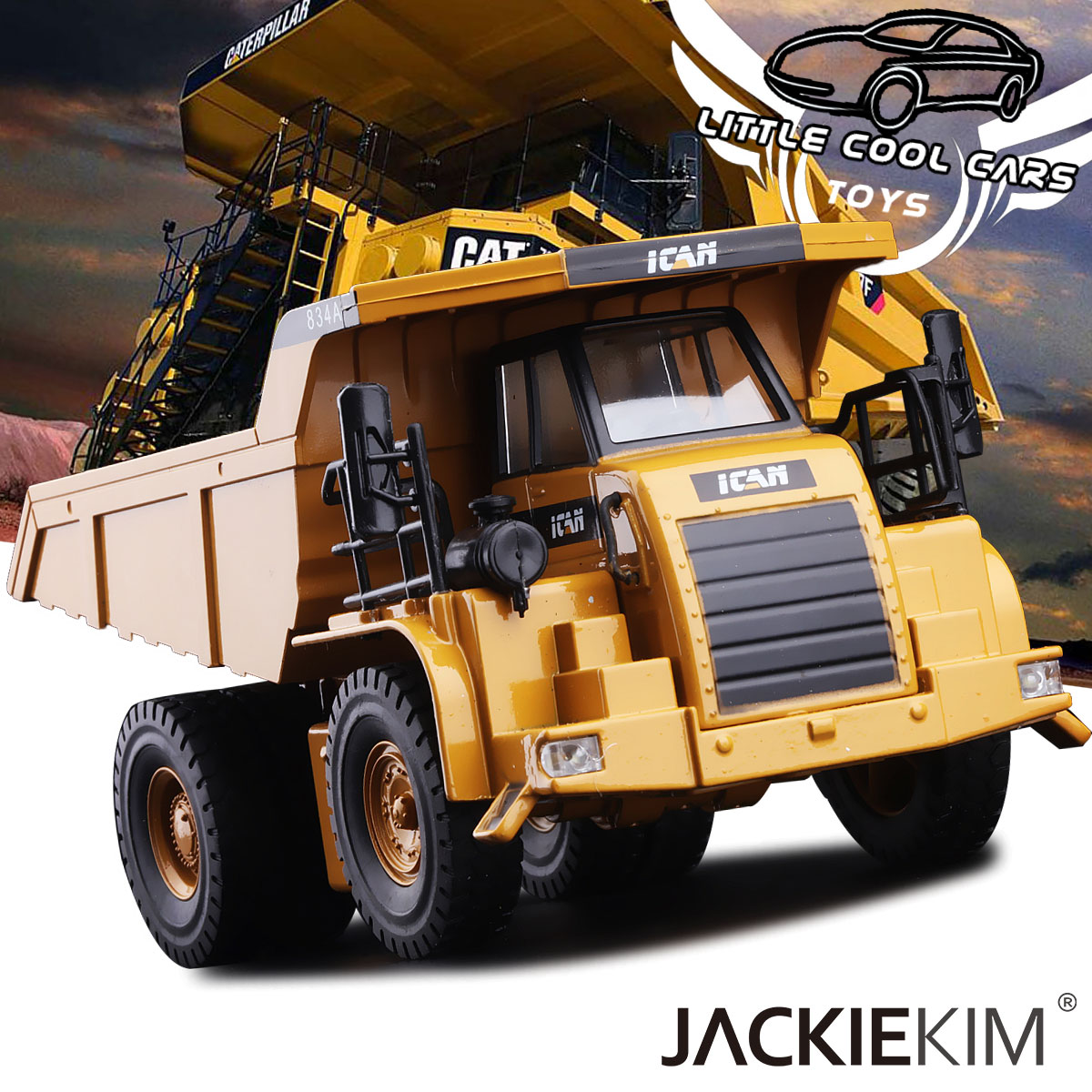 High simulation 1 50 CAT heavy construction vehicles Alloy Pull Back cars Heavy tub transport car