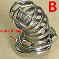 New Steel Stainless Male Chastity Cock Cage Chastity Cage Penis Ring Male Chastity Toys Penis Lock Sex Toy Sex Product G206