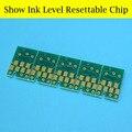 HOT!!! 2 set/lote mostrar o nível de tinta chip do cartucho reajustável para epson 7880 9880 cartucho de tinta t6041 t6047 t604
