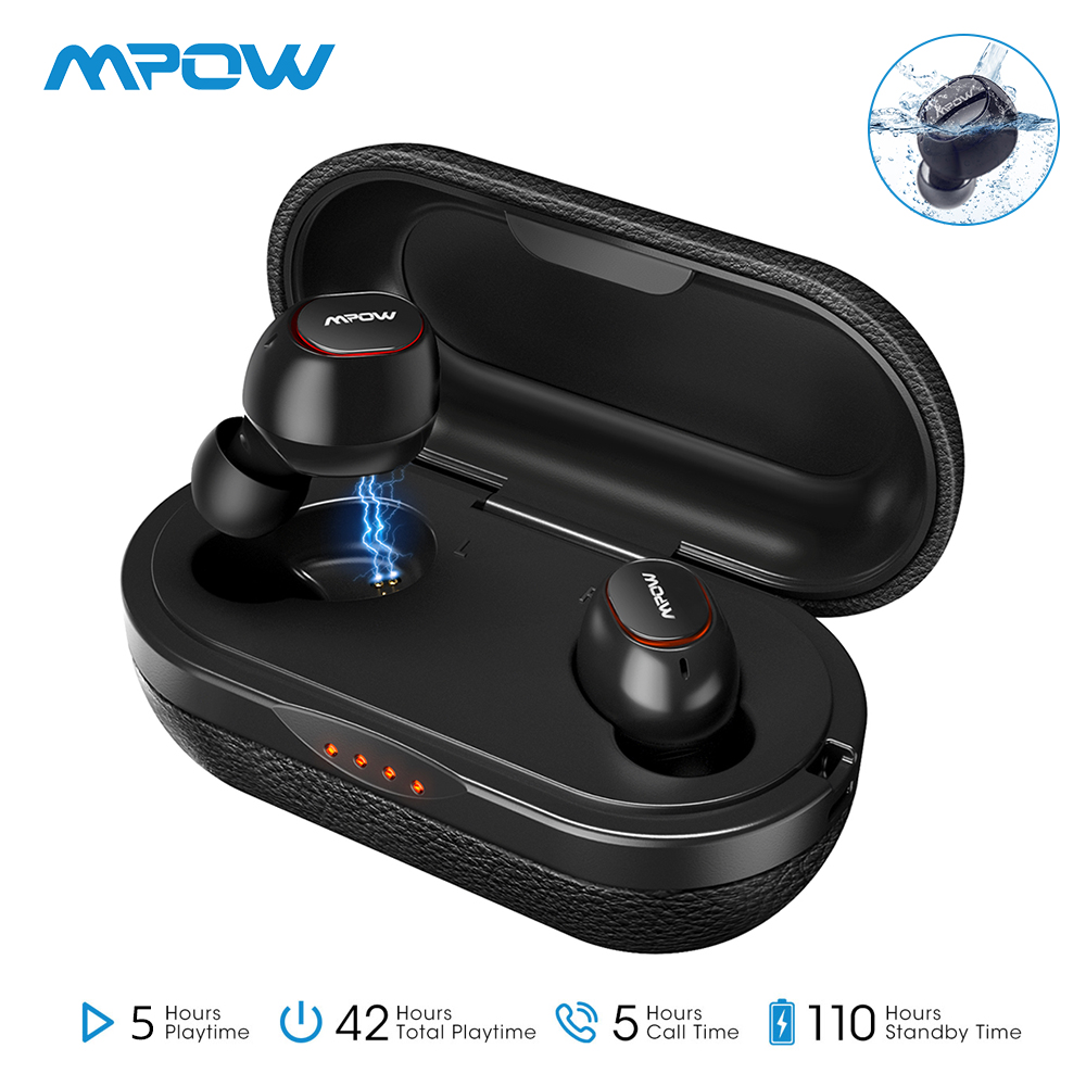 Mpow <font><b>T5</b></font> IPX7 Wireless <font><b>TWS</b></font> Earbuds APTX Bluetooth 5.0 Earphones 36H Playing 3D Stereo CVC8.0 Noise Cancelling Headphones With Mic image
