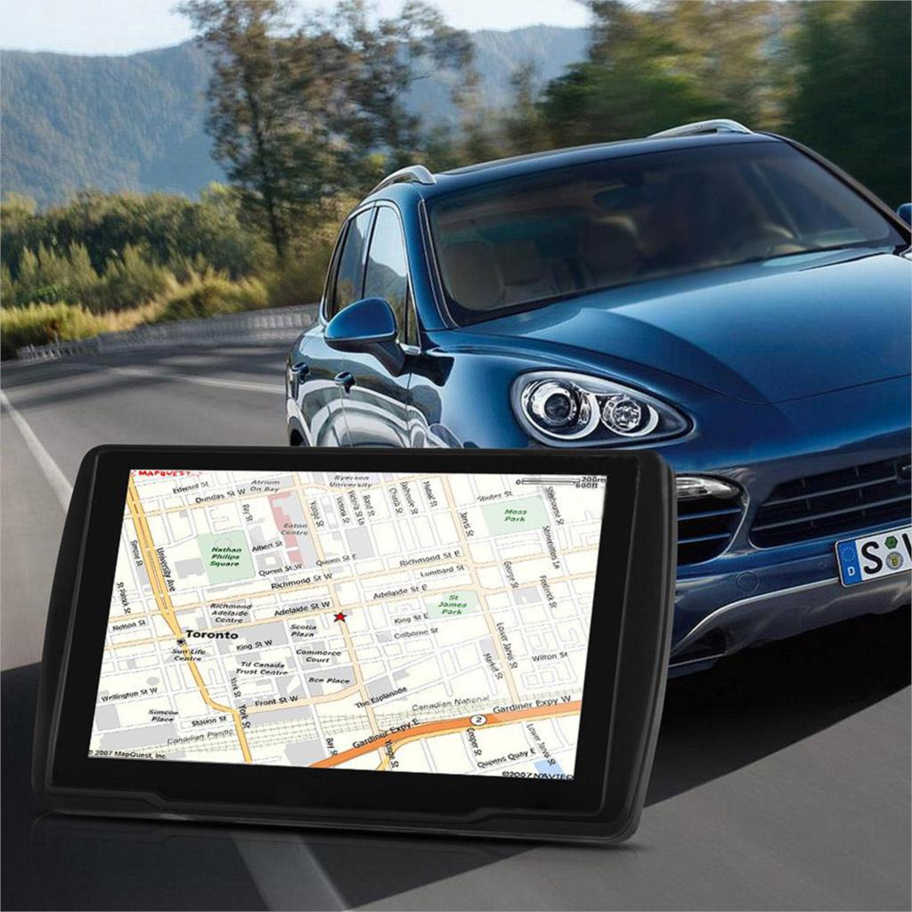 NOYOKERE Car gps 5 inch Touch Screen GPS Navigation 4GB with America Map Support Music Video and Play Games Vehicle Navigator