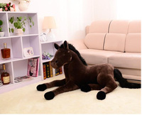 plush simulation dark brown horse toy lovely high quality horse doll gift toy about 70cm 0438