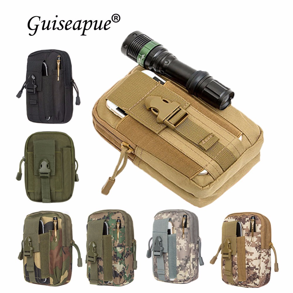 Tactical Military Molle Phone Pouch Waist Belt Bag Fanny Pack Hip Bags Camping