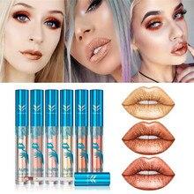 Huamianli charming Metallic Colors Matte Lip gloss Waterproof Lasting Matter Shimmer Nude Liquid Lip Gloss Cosmetic