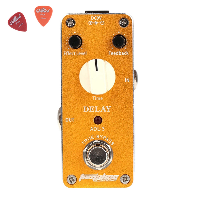 ADL-3 Mini Delay Electric Guitar Effect Pedal  Aroma Aluminum Alloy Housing Pedals Effects True Bypass