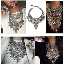 Ztech 2018 Women Necklaces Pendants Vintage Crystal Maxi Choker Statement Collier Femme Boho Big Fashion Jewellery