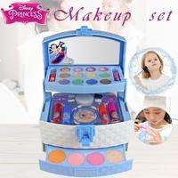 32Pcs Disney Princess Makeup Case Girls Toys Set Portable Cosmetics Toy Lipstick for Children Kids