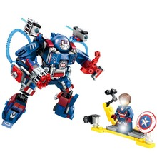 Super Heroes Marvel Figures Captain American The Hulk Spiderman Iron Man Legoinglys Building Blocks Mini Bricks Children Toys