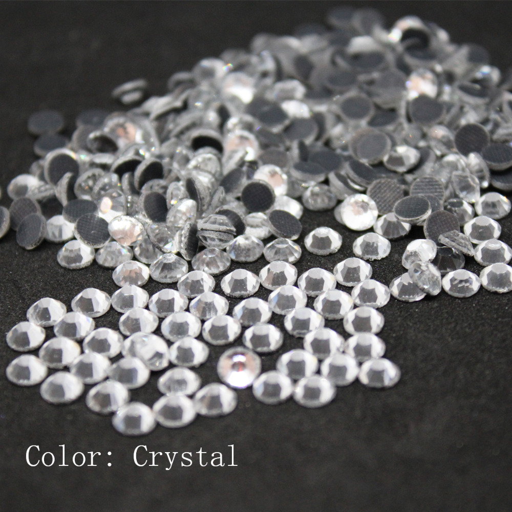 Crystal Large Package Crystal Glass DMC Machine Cut Hotfix Rhinestone Hot Fix Iron On Rhinestone Garment Sewing Stone crystal color 01 1440pcs hotfix rhinestones crystal rhinestone with glue backing iron on perfect for clothes shoes dresses diy