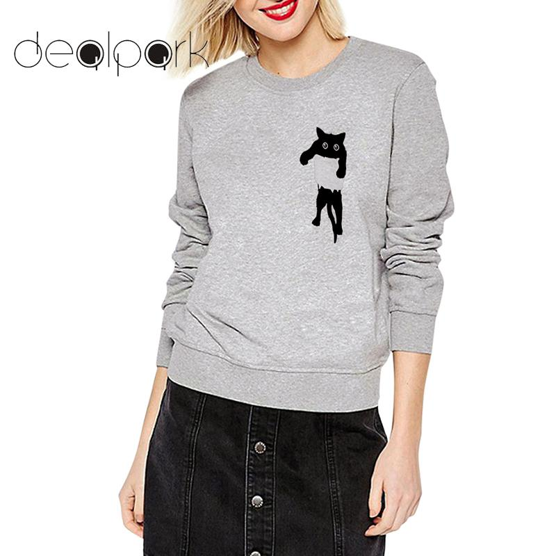 New Fashion Women Casual O-Neck Long Sleeve Prints Pullover Sweatshirt WST