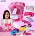 Nueva llegada escena casa de rompecabezas de juguete de simulación de mini máquina de coser de la muchacha para niños early education toys mejor regalo de cumpleaños
