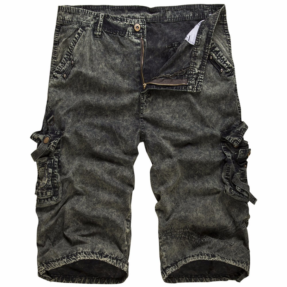 2018 New Fashion Camo Cargo Shorts Men Casual Shorts Trousers Male Loose Work Shorts Man Military Short Pants Plus Size