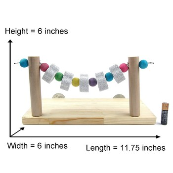 Parrot Bite Toy Bird Standing Bar Springboard Swing Grindstone String Nutrition Calcium Supplement Pet Products Bird Supplies