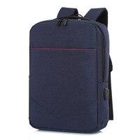 Simple laptop bag USB multi function outdoor travel backpack waterproof 12 17 inch laptop sleeve for laptop macbook air/pro