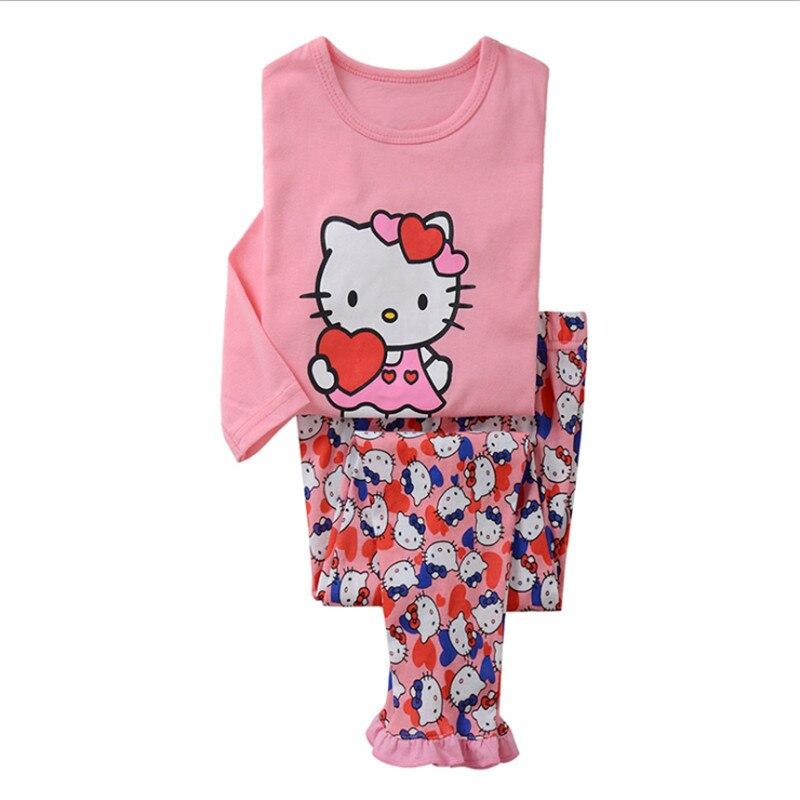 Pyjama de dessin animé pour filles en bas âge | Vêtements de nuit, costume de Cosplay pour enfants filles de 2-8 ans, ensembles de vêtements 2 pièces avec pantalon, tendance, nouvelle collection