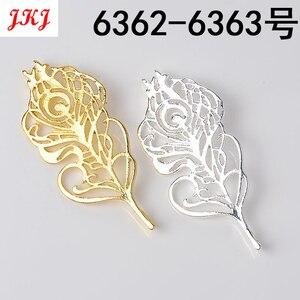 Venta al por mayor 20 piezas de oro de calidad de moda de aleación colgante de pluma perla rama DIY encanto pulsera collar de accesorios de joyería
