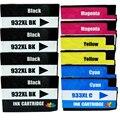 10 Совместимость HP 932XL/933XL Multipack картриджи (черный, синий, красный, желтый) HP Officejet 6100 6600 6700 7110 7610 7612