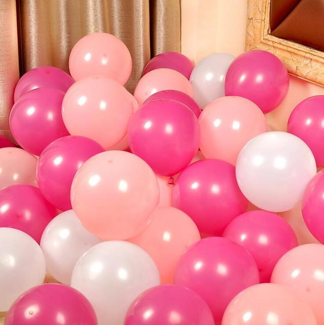 Rose Rot Rosa Serie Latex Ballon Aufblasbare Hochzeitsdekorationen Luft Ball Happy Birthday Party Supplies Balloons