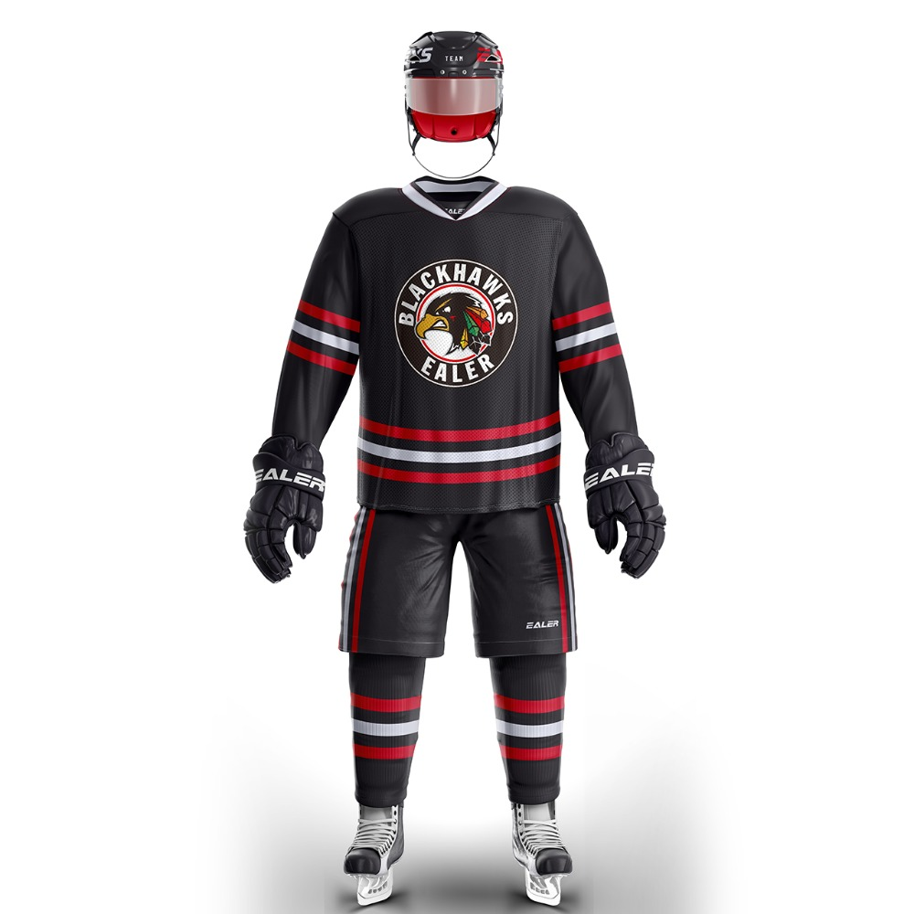EALER free shipping Chicago ice hockey jersey s Breathable Quick Dry in stock E031 fighting sioux cheap image