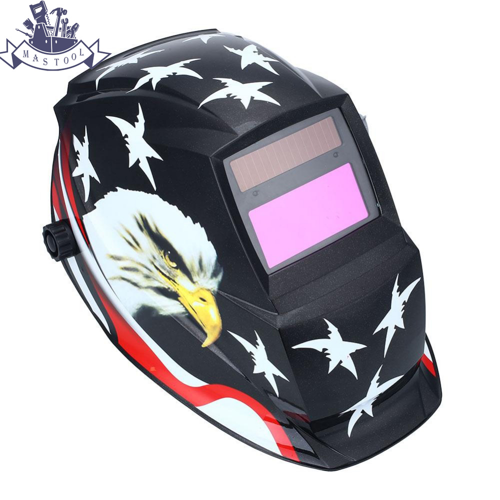 Auto Darkening Solar Welding Helmet Mask Welder Soldar Mask Tig Filter Solar Mask mascara Eagle din7 din12 shading area solar auto darkening welding helmet protection face mask welder cap for zx7 tig mig welding machine
