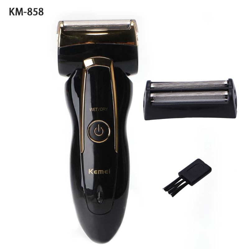 Kemei-858 Rechargeable Electric Men's Shaver Razor Trimmer Mustache Hair Clipper rechargeable hair clipper with accessories set 220 240v ac