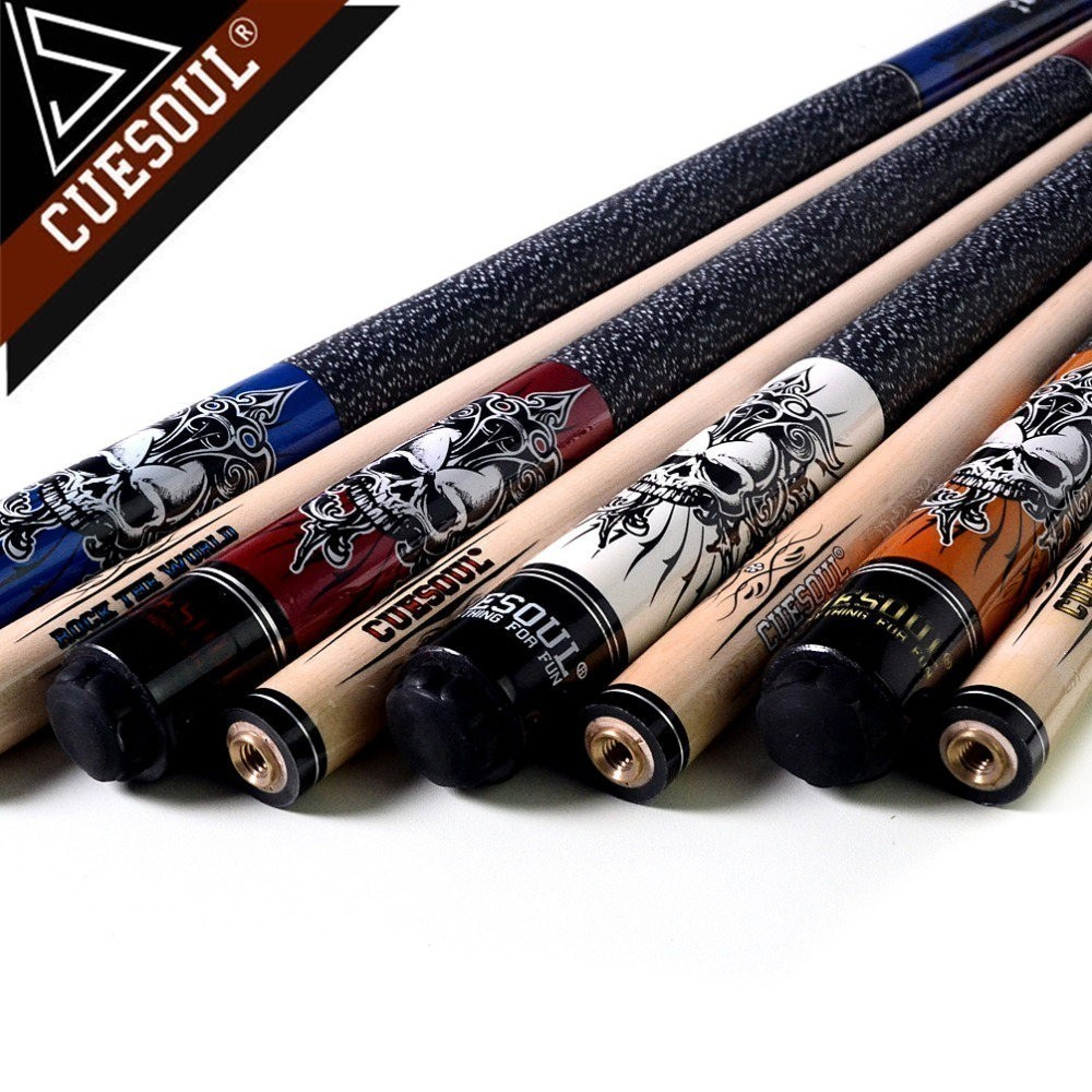 CUESOUL Rockin Series Snooker Billiards Maple 13mm Tip Pool Cue Stick Set With Blue Carrying Cue