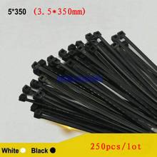 250 шт/лот 5*350 35*350 мм нейлоновая стяжка для крепления кабеля