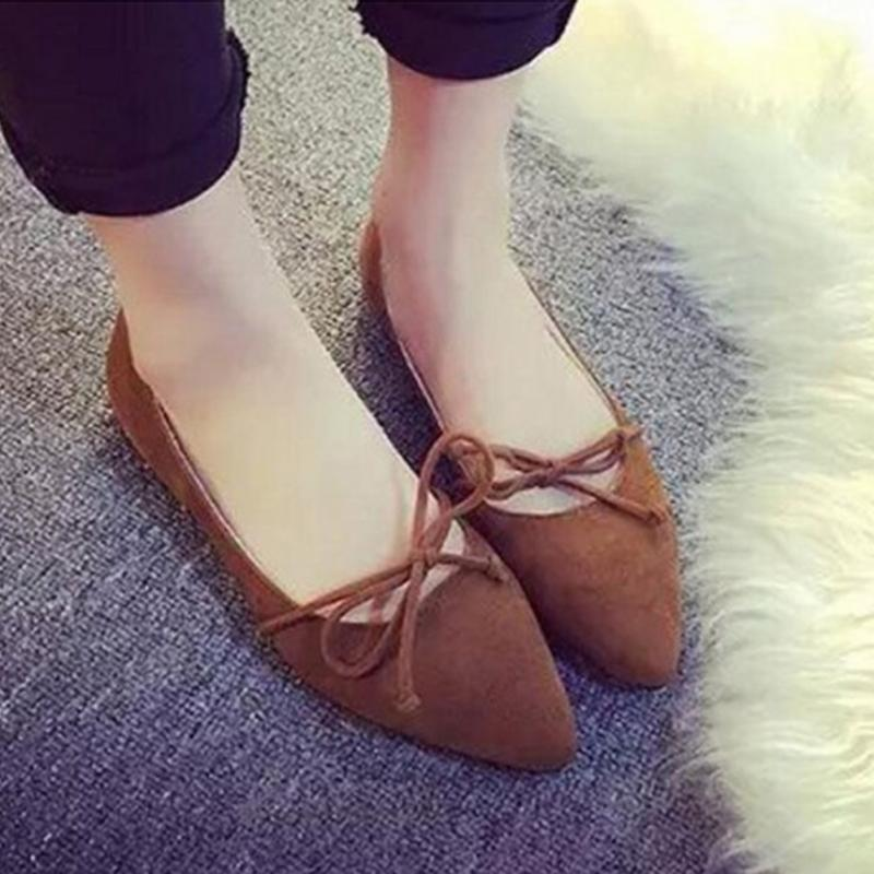 2018 Women Shoes Woman Flats high quality suede Casual Comfortable pointed toe Rubber Women Flat Shoe Hot Sale New Flats цена 2017