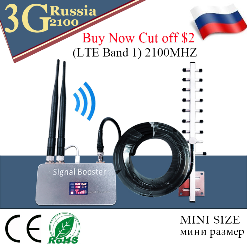 Russia 3G Ripetitore 2100MHz Repeater (LTE Band 1) WCDMA 2100 UMTS Mobile Signal Booster 3G UMTS Cellular Repeater 3G Amplifier