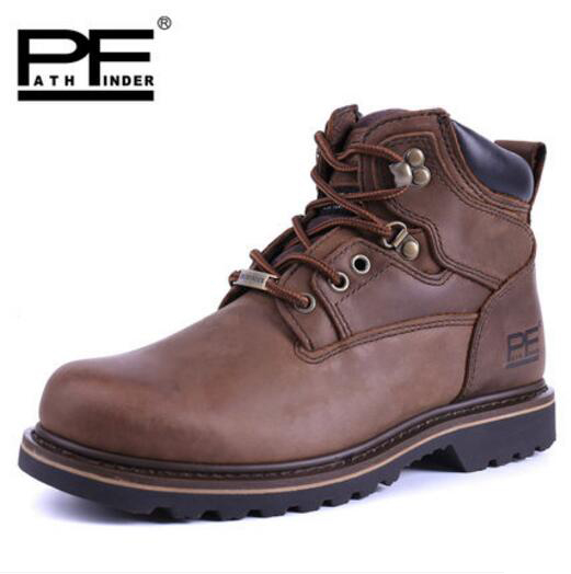 Pathfind brand Mens safety Leather Martin Tooling military Boots Men Outdoor high quality Casual Shoes Retro men winter Boots pathfind luxury brand leather ankle snow boots europe style motorcycle martin tooling military boots men outdoor casual shoes