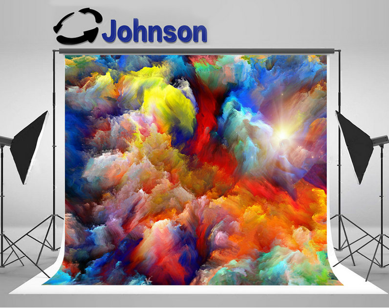 colorful dreamy clouds photo studio background Vinyl cloth High quality Computer print party photo backdrop