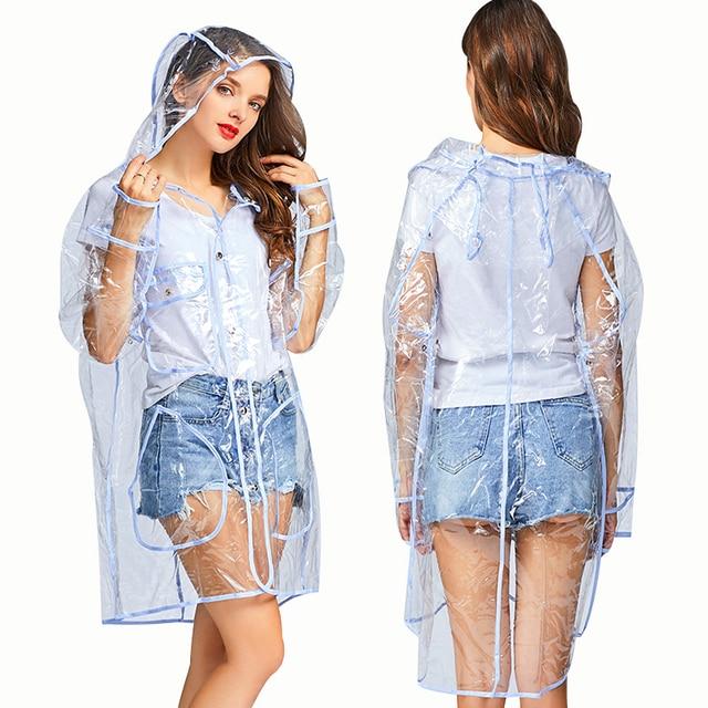 f65265f7a76 Yuding Outdoor Transparent Raincoat Hiking Fashion Hooded Womens Rain  Jackets Waterproof Plastic Girl Ladies Rain Coat