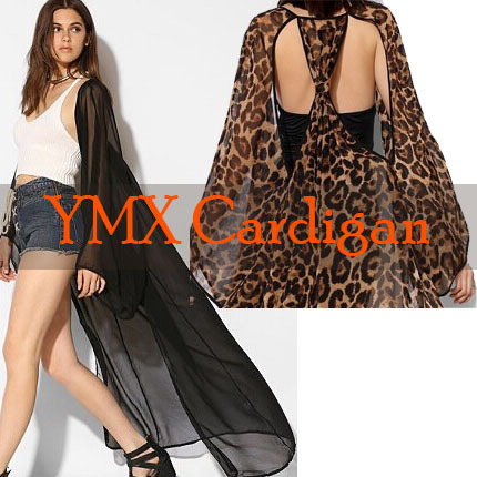 Online Shop 2014 Women's Fashion Casual Loose Long Leopard Print ...