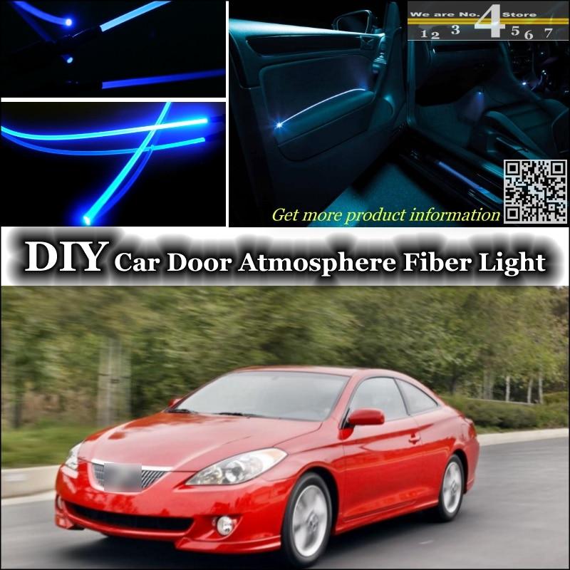 interior Ambient Light Tuning Atmosphere Fiber Optic Band Lights For TOYOTA Camry Solara Mark V Inside Door Panel illumination