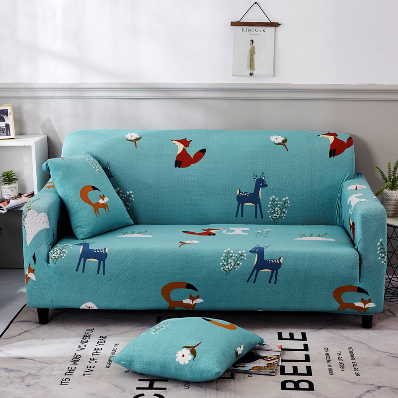 Universal Floral Sectional Sofa Covers Elastic All-inclusive Polyester Stretch Slipcover Sofa Towel Sofa Cushion for living room