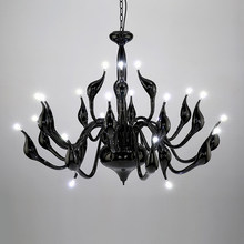 2017 Deco European Candle Crystal LED Swan Chandeliers Ceiling Bedroom Living Room Modern Decoration G4 Lighting Free Shipping