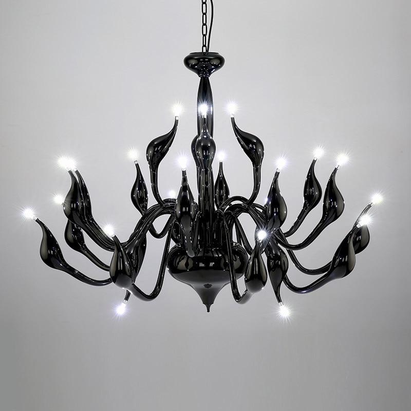 2017 Deco European Swan Chandeliers Candle Crystal LED Chandelier Ceiling Bedroom Living Room Modern Decoration G4  Lighting