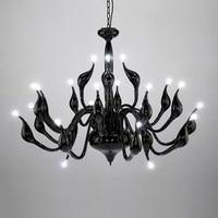 Art Deco European Candle Crystal LED Swan Chandeliers Ceiling Bedroom Living Room Modern Decoration G4 Lighting