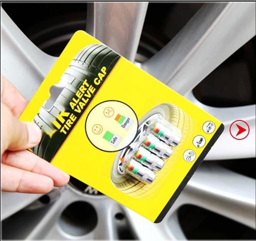 VEELVEE 4PCS Car Tire Valve Caps Pressure Gauge For Mini cooper countryman clubman R55 R56 R57 R58 R59 R60 R61 Car Accessories