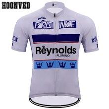 Pro camisa Da Equipe de corrida Homem Retro branco Reynolds Mtb Andar de  bicicleta de Ciclismo Jersey Manga curta verão Camisola. cdb5def76