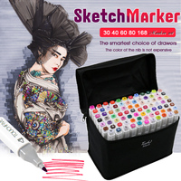 TouchFIVE 30 40 60 80 168 Colors Set Art Markers Alcohol Dual Headed Graffiti Pen Markers