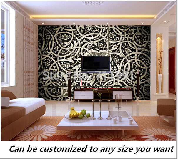 Free shipping custom 3D Oriental Tiles Wall Mural modern mural Wallpaper TV setting wall of sitting room bedroom wallpaper free shipping river stone waterfalls 3d floor tiles wear non slip moisture proof bedroom living room kitchen flooring mural